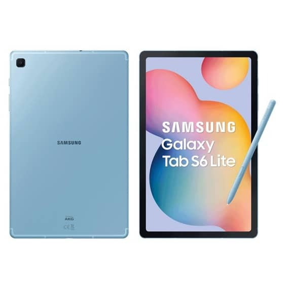 This is a blue Samsung Galaxy Tab S6 Lite