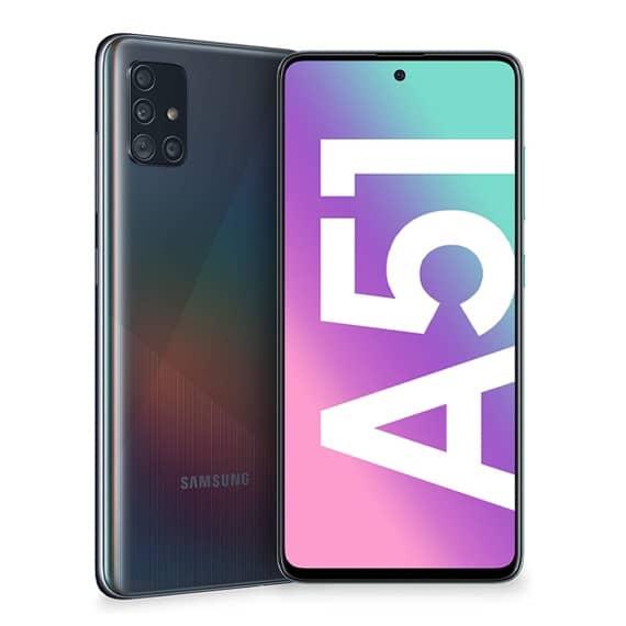 This is a Black Samsung Galaxy A51