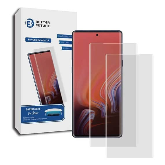 This is a Samsung Galaxy Note 10 Liquid Glass