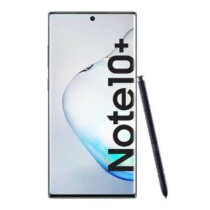 This is a black Samsung Galaxy Note 10 Plus Smartphone