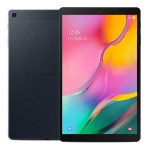 This is a black Samsung Galaxy tab A 10.1. The 2019 edition.