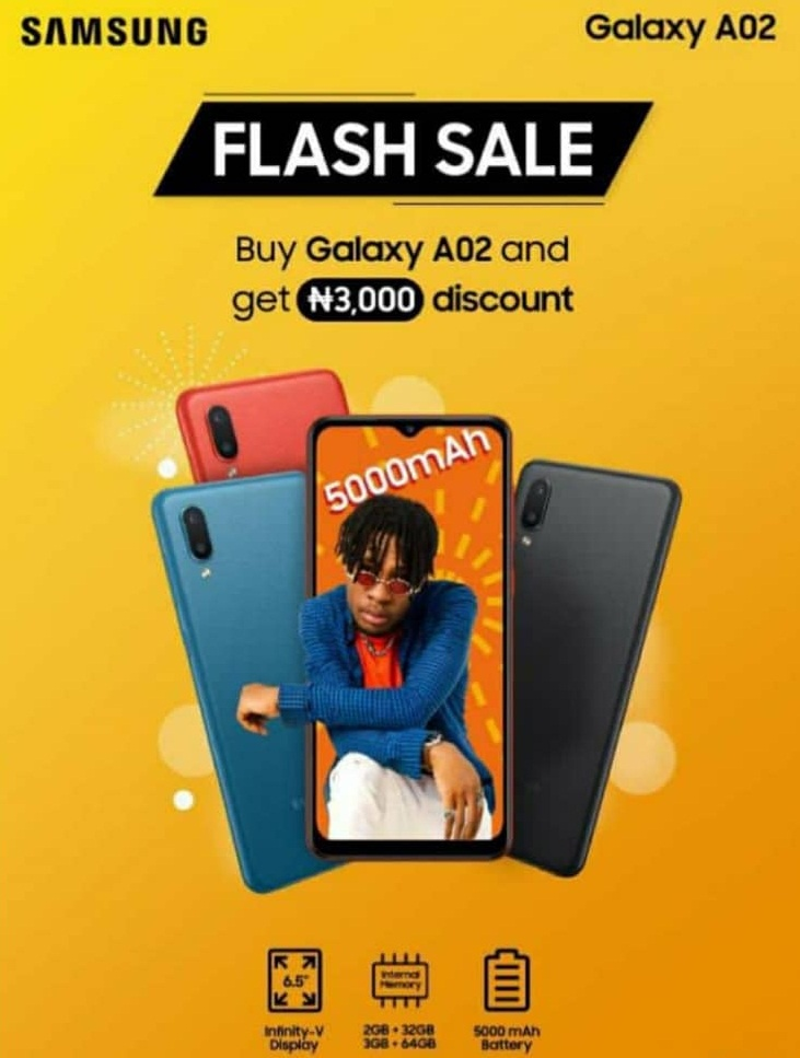 a02 flash sale in nigeria