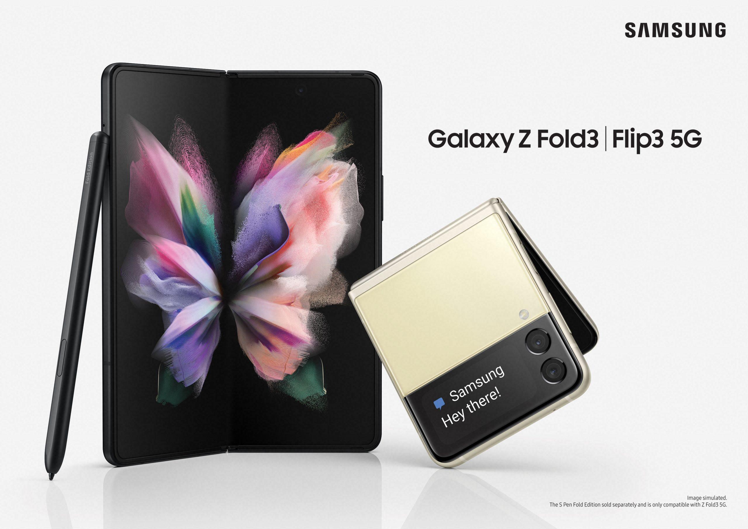 galaxy z fold 3 and z flip 3 kv